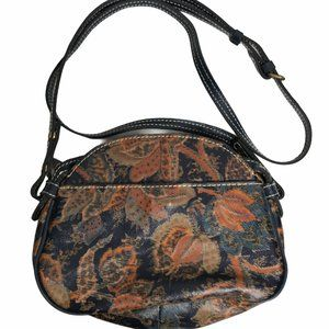 NWOT Patricia Nash Floral Blue & Brown Crossbody